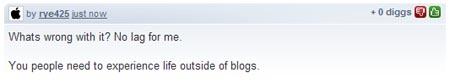 Comentario de Digg
