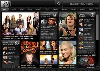nuevo sitio en flash de mtv.com