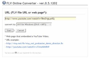 FLV Online Converter
