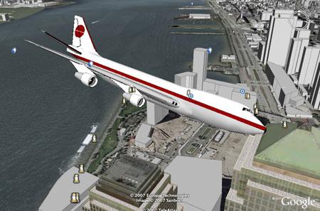 El avión a punto de estrellar