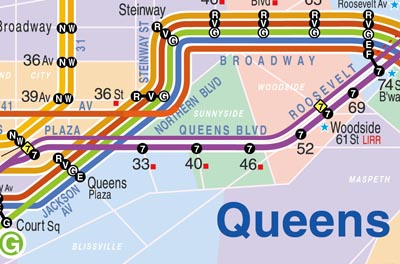 New NY subway map