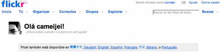 Flickr en español