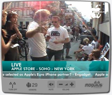 iPhone Launch TV en Mogulus