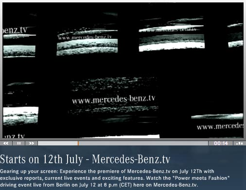 Mercedes Benz tv