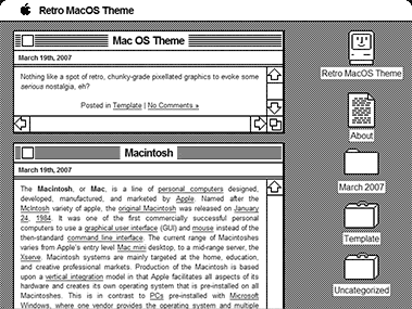 Retro MacOS worpdress theme