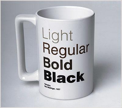 Helvetica Coffe Mug