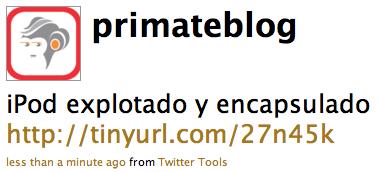 Primate Blog en Twitter