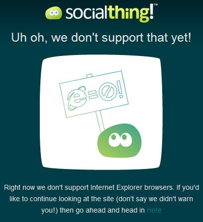 Socialthing vs IE