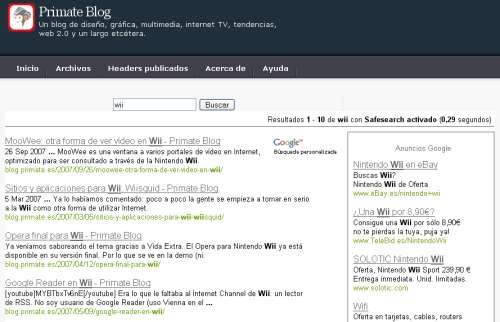 Google Search en Primate Blog