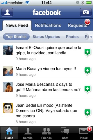facebook en iPhone